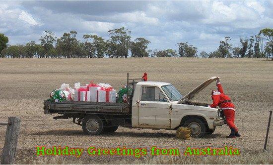 Christmas bridge fantasies australia holiday greetings m4hsunfo